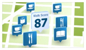 walk score screen shot