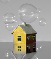 house and bubbles