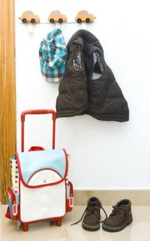 Children's clothing organized.
