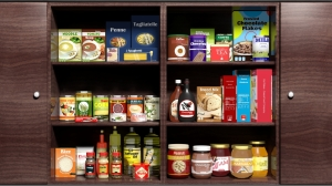 Organized food pantry